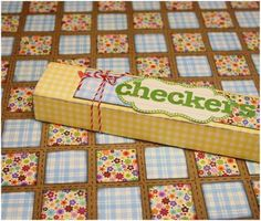 "DIY checkers.  Cute idea for a gift or for kids to make on a ""rainy day""."