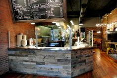Sustainable Lumber Co. recycled pallet paneling
