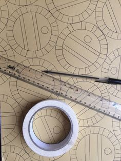 doodles - just draw round a roll of tape with a biro