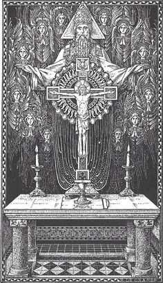 Holy Trinity and the altar Catholic Missal, Catholic Art, Roman Catholic, Catholic Traditions, Religious Images, Religious Icons, Religious Art, Catholic Gentleman, Catholic Pictures
