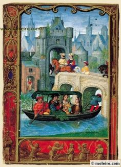 The Golf Book (Book of Hours) - May, promenade by boat