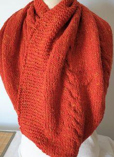 Hand-knitted large cowl in orange Luxury Aran Alpaca wool mix by Ebooksandhandmade on Etsy Alpaca Wool, Winter Is Coming, Mittens, Hand Knitting, Cowl, Orange, Luxury, Etsy, Accessories