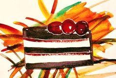 Watercolor dessert by betsy leavitt