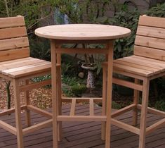 My Laughing Creek handcrafted Outdoor Cedar Round Top Tall Table is available in 15 beautiful colors! Shown in photos are my Laughing Creek (Outdoor Wood Gazebo) Diy Outdoor Table, Patio Table, Diy Table, Outdoor Dining, Outdoor Decor, Patio Bar Set, Pub Table Sets, Bar Tables, Round Pub Table