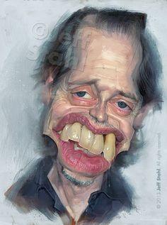 celebrity caricatures Steve Buscemi