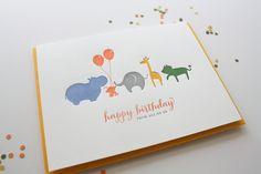 So cute! | Letterpress Birthday Greeting Card  All of Us by Honizukle on Etsy, $6.50