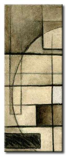 23_KE_Pl_006C Brown Circle Box II / Cuadro Abstracto, Rectangulos