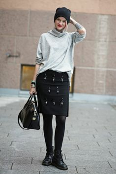 all a bit cool that. #MarianneTheodorsen in Oslo. #StyleDevil In FWSS knit www.fallwinterspringsummer.com