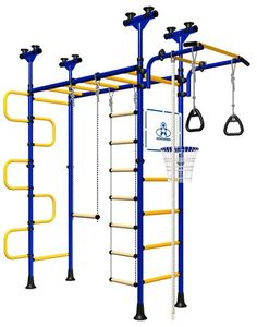 This looks great for active kids- for all year round play. No holes in the walls or ceilings, so can be used for rentals- just check shipping as it can be 30% more on cost- but still may be worth it! Indoor Sport Gym for Kids, model Pegasus-4.06.php - Jungle Gym with metal rungs covered with plastic with massage bumps