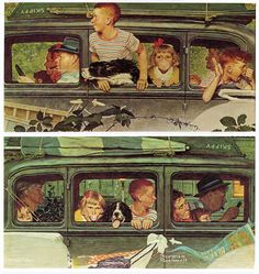 1947- Going and Coming - by Norman Rockwell / Por James Vaughan - Flickr