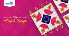 Easy Rangoli Designs at Home - Learn how to make easy rangoli designs using OHP sheets at Hobby Ideas. Visit us now to explore easy rangoli designs and make them using glass colours & OHP sheets and preserve your rangoli always with you. Art Illustrations, Illustration Art, Hobby Ideas, Simple Rangoli, Rangoli Designs, Colored Glass, Preserve, Make It Simple, Colours