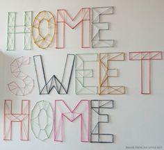 DIY Nail and Yarn Wall Art from Jen Loves Kev | Creature Comforts