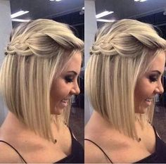 penteado com trança cabelo chanel