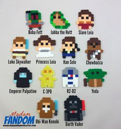 STAR WARS Party Favors Original Star Wars 8bit Style, perler beads by MadamFANDOM