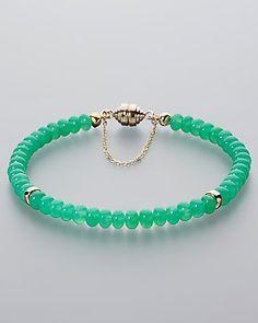 Grünes Edelsteinarmband mit Chrysopras - #schmuck #jewellery #sognidoro #sogni…