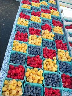 Taste the 'berry' sweet flavors at the Farmers' Market in San Luis Obispo, CA.