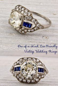 Rare Finds: Vintage Engagement Rings and Wedding Bands | OneWed