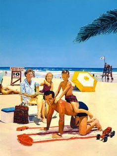 MALCOLM MORLEY. Beach scene. 1968.