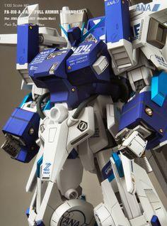 GUNDAM GUY: MG 1/100 FA-101-A FAZZ [Full Armor ZZ Gundam] Ver. ANA Sky Project Metallic Matt - Painted Build