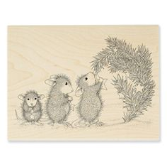 Star Decorations Rubber Stamp - Our Newest House-Mouse Designs®️️ Wood Mounted rubber stamps