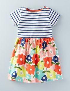 Shop Spring 2016 Girl's Dresses Hotchpotch Jersey Dress (Geranium Poppy Field)