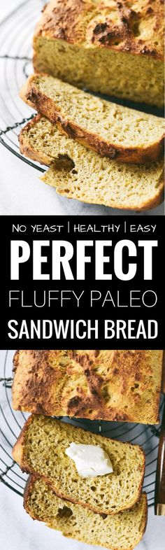 Perfect paleo sandwich bread. Toastable. Sandwichable. Low carb. Grain free. Yeast free. Light. Fluffy. Awesome crust. Best gluten free sandwich bread!