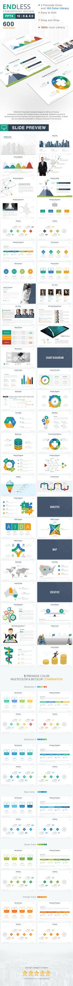 Endless Powerpoint Template Design, make a great presentation and amaze your audience with this template!