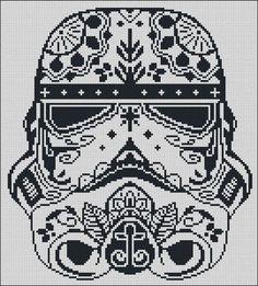 BOGO FREE! Storm Trooper, Star Wars Cross Stitch Pattern Stormtrooper Needlecraft Sugar Skull Embroidery Needlework Instant Download #002-1: