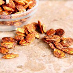 Cajun BBQ Pumpkin Seeds #pumkinseeds #fallrecipes