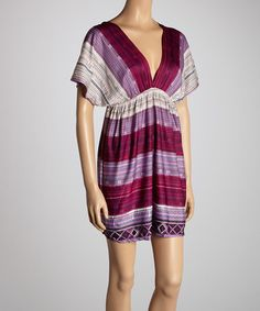 Take a look at this Purple Stripe Dress by She's Cool on #zulily today!