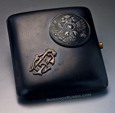 FABERGE Rare Gun Metal World War I Cigarette Case 1914 - Antique Jewelry | Vintage Rings | Faberge Eggs