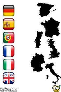Une Banderas y Países de Europa