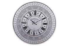 Floral Pierced Clock