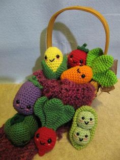 kawaii veggies crochet pattern