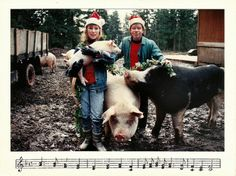 Awesomely Awkward Christmas Card Photos. I love the piggies!