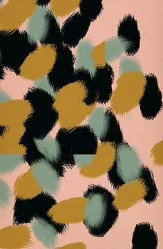 gold, mint, navy and nude | print