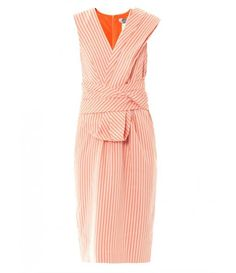 wrap front // coral striped ~