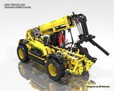 LEGO Set MOC-3841 Telehandler (42030 C-Model) - building instructions and parts list. Theme: Technic; Year: 2015; Parts: 1476; Tags: moc technic