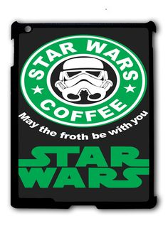 Star Wars coffee iPad 2 3 4, iPad Mini 1 2 3 , iPad Air 1 2