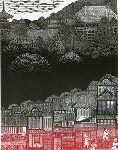 Yasukiko Kida | Kiyomizu-dera Japanese Wood-block print