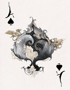D'espairsRay Deck - Ace of Spades by *robbiedraws on deviantART