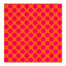 Attractive Orange And Pink Polka Dots Shower Curtain