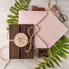 Cherry wood custom #weddinginvitations