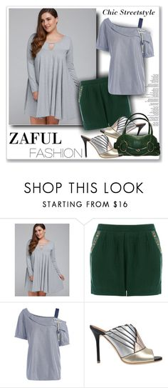 """""""Zaful Fashion91"""" by sneky ❤ liked on Polyvore featuring Malone Souliers, Gucci, polyvoreeditoria and zaful"""