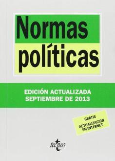 Normas políticas. Luis Aguiar de Luque. Tecnos, 2013