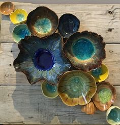 """Wall ceramic sculpture made of ceramics depicting corals and barnacles. Size: 10"""" x 10"""". Reclaimed Wood Wall Art; Ceramic Coral Reef Wall Application; Ocean Reef; Underwater Coral Reef Pieces are hand"""