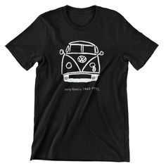 Grateful Dead Jerry Garcia Sad Bus T Shirt Bob Weir, Men's / Ladies / Fitted / Buy any two shirts get one free! by cottonpickincrazy on Etsy Willie Nelson T Shirts, Bob Weir, Grateful Dead, Big Black, Get One, Classic T Shirts, Long Sleeve Tees, Sad, Mens Tops