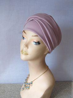 """Купить """"Виолетта"""" трансформер осень - бледно-розовый, чалма купить, тюрбан купить, большой размер"""