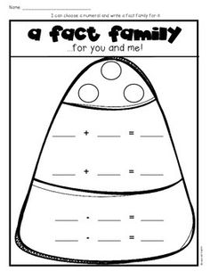 Candy Corn Fact Families sheet- download FREE from TpT!   for my ...