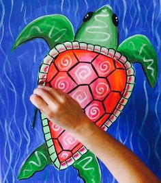 How To Paint A Sea Turtle - Step By Step Painting